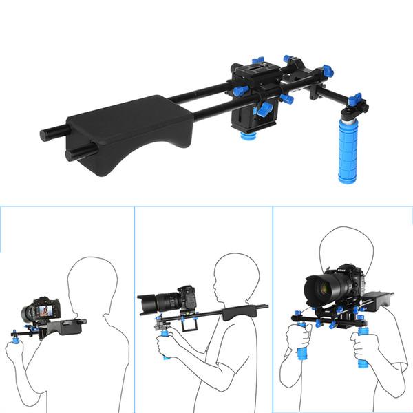 Freeshipping Portable FilmMaker System & DSLR Video Stabilizer Shoulder Mount Rig Dual-Handgrip For DSLR Video CANON SONY Nikon