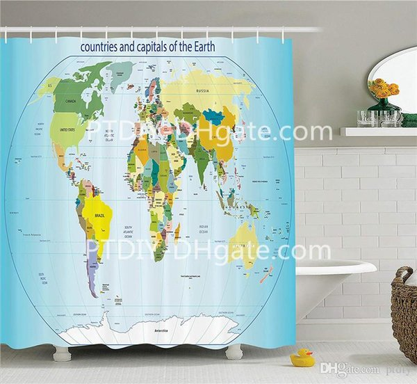2019 DIY Unique Wanderlust Decor Collection World Map With Countries And  Capital Cities Of The Earth With Oceans And Lakes Graphic Art From Ptdiy1,  ...