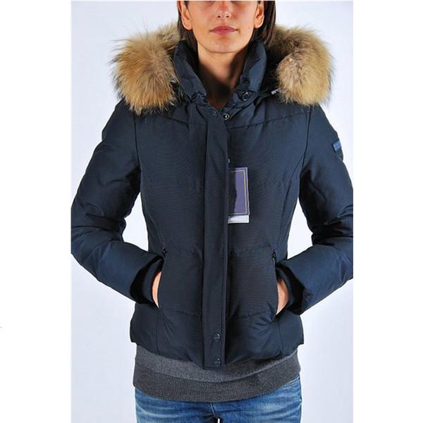 2019 Women's Down & Parkas Goose Victoria Parka Women's Long Slim Fashion Down Jacket 90% White Goose Down Breathable Warm Hooded Jacket