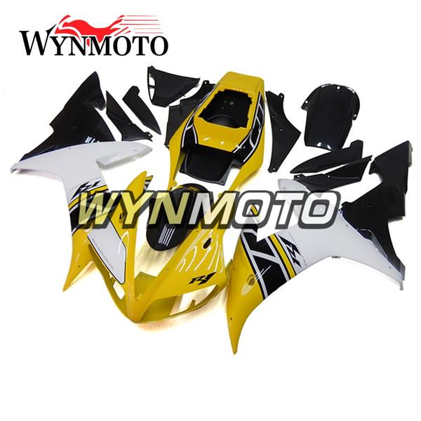 Amarillo Negro Blanco Nuevo Motocicletas Carenados para Yamaha YZF 1000 R1 2002 2003 ABS Plástico Inyección carenado moto yzf 1000 r1 cubre