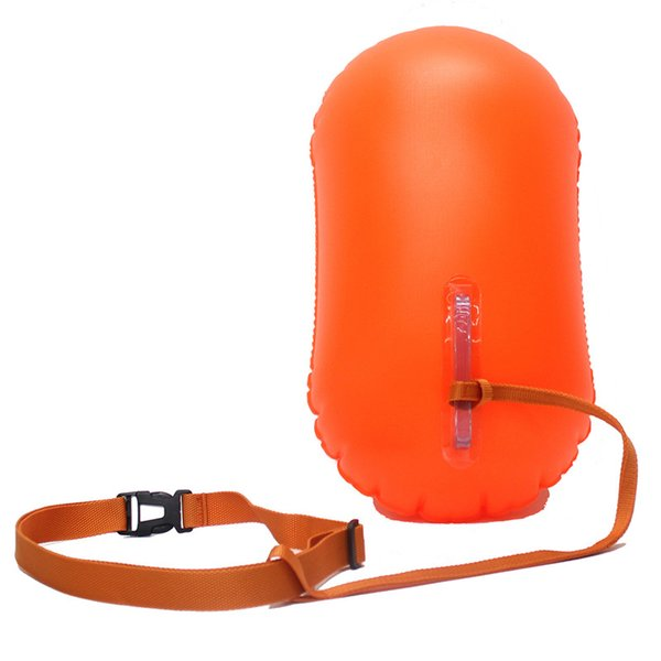 Portable 1PCS Swimming Safety Inflatable Balloon Swimming Aid Bag Outdoor Surfing Rafting Diving Accessories Easy Carrying Ring