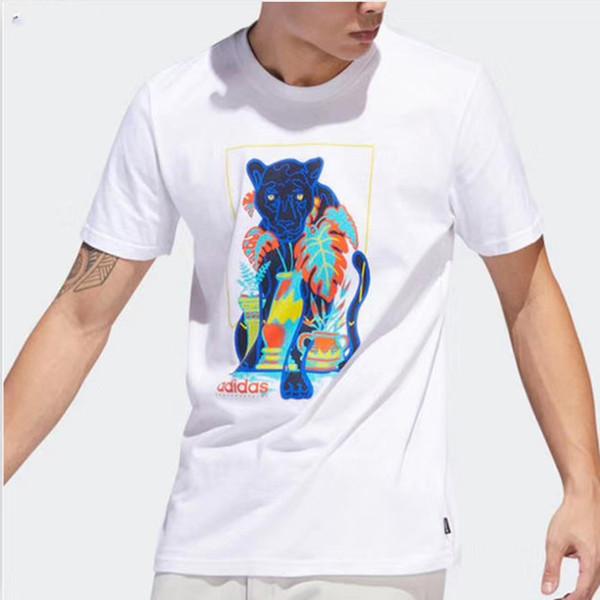 Negro Blanco Moda Verano Hombre Camisetas Verano Algodón Camisetas Monopatín Hip Hop Streetwear Camisetas