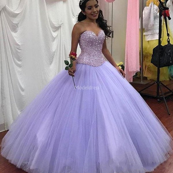 New Modern Beads Quinceanera Dresses Sweetheart Ball Gown Major Beading  Floor Length Plus Size Prom Gowns Luxury Sweet 16 Vestidos De Fiesta Cheap  ...