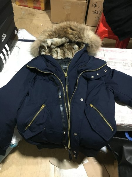 Winter Men Parkas LONG WINTER MaCk-age-DIXON-f Down & Parkas WITH HOOD/Snowdome jacket Real Raccoon Collar White Duck Outerwear & Coats