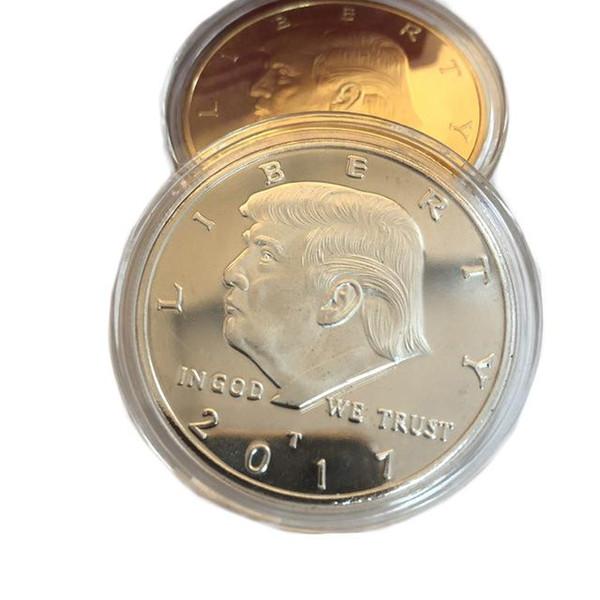 2017 Moda Donald Trump Hatıra Para Amerikan Başkanı avatar Altın Paraları Gümüş Rozet Metal Craft Koleksiyonu