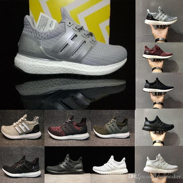 2018 Original Ultra boost 3.0 4.0 Be Ture Triple Primeknit Oreo Cny Hombres Mujeres Ultraboost Zapatos para correr Zapatillas deportivas Chaussures 36-46