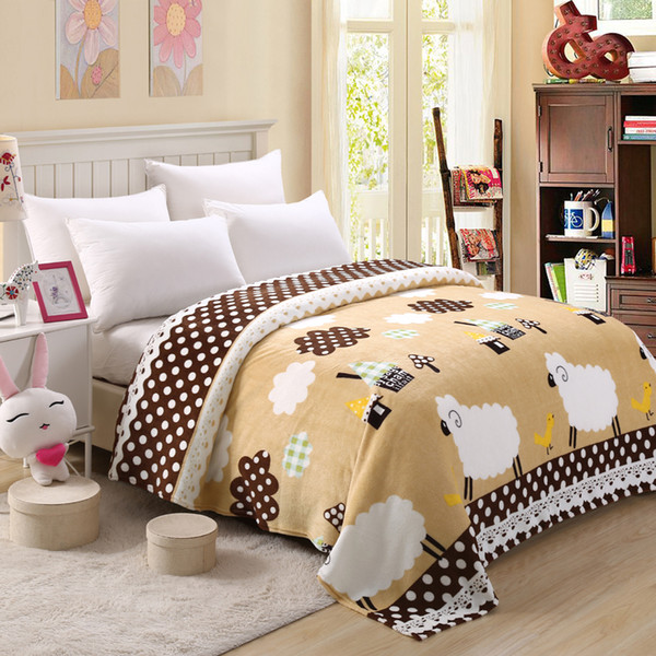 bedspread blanket 200x230cm High Density Super Soft Flannel Blanket to on for the sofa/Bed/Car Portable Plaids