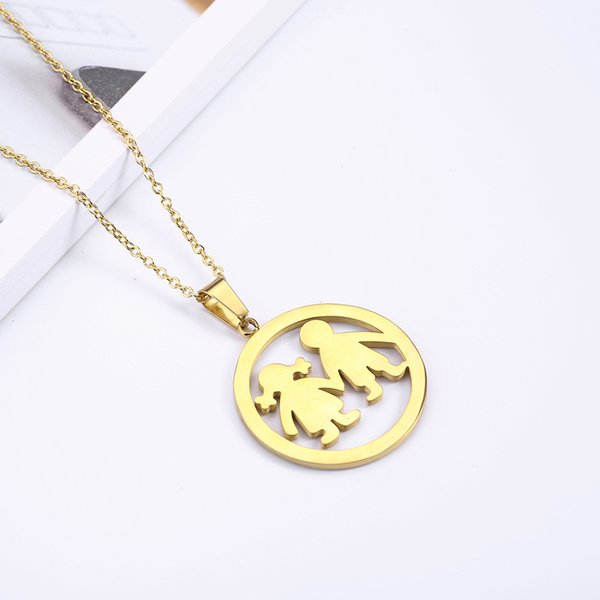 PUN jewelry accessories long necklace chain stainless steel for women female silver gold best friends jewellery pendant fashion