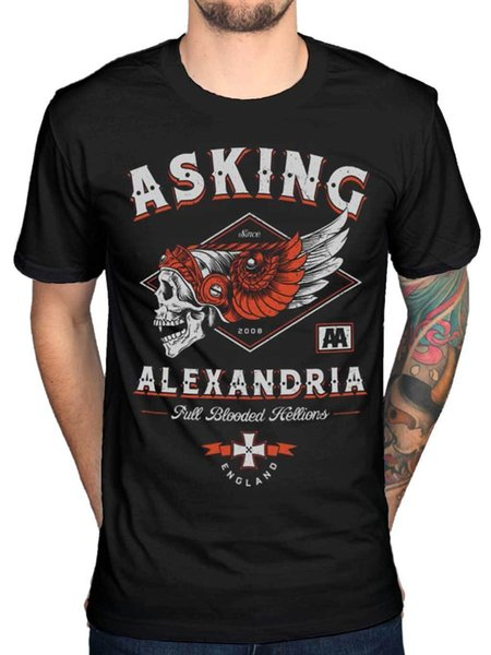 Official Asking Alexandria Full Blooded Helion T-Shirt Afterlife Reckless Album Men Women Unisex Fashion tshirt Free Shipping black