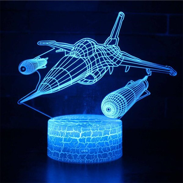 best selling Fast & Furious 8 Colors Fighter Lamp 3D Visual Led Night Lights for Kids Lampara Lampe Baby kids Sleeping Nightlight Lamp Horse