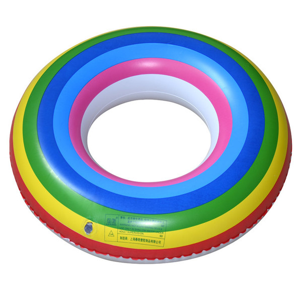 Rainbow Ring Adult RingMen's Children's Axillary Ring Inflatable Ring, Floating Ring Wholesale Life-saving Life Vest & Buoy