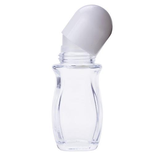 vetro 50ML tappo bianco flacone a rotolamento