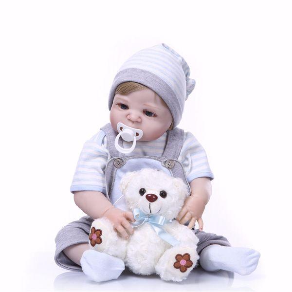 Bebe Reborn Full Silicone Body Girl Reborn Doll Alive Baby puppy Toys Lifelike Princess Xmas Fashion Doll Bebe Reborn Menina