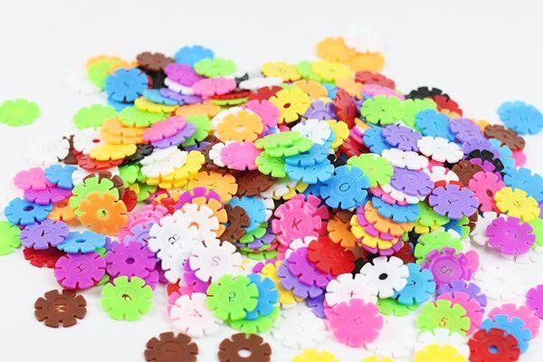 3cm/3.1CM/4.2CM green plastic building blocks assembled children's toys puzzle diy puzzle early education snowflake