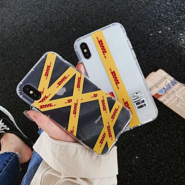 Hot Street trend Stripe étiquette téléphone cas pour apple iphone 6 6S plus 7 7plus 8 8plus X XS XR MAX couverture anti-chute capa