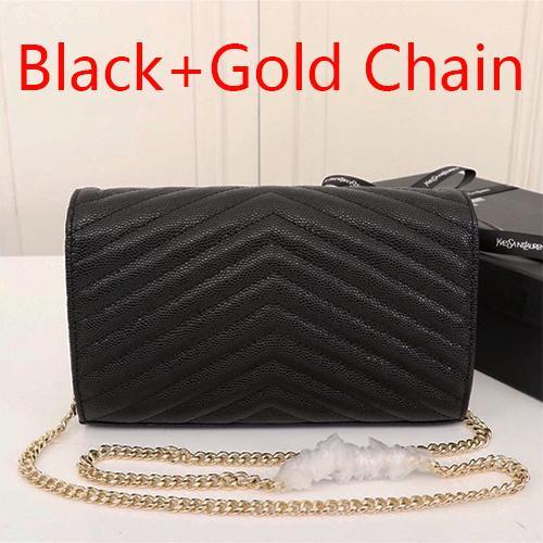 Черная + золотая цепочка(поставляется с Y_S_L)