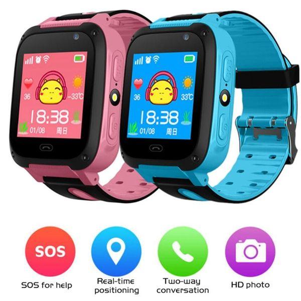 top popular Kids Smart Watch Waterproof Trakcer Intelligence Watch Children Smartwatch For IOS Android Q9 Blood Pressure Heart Rate Monitor 2020