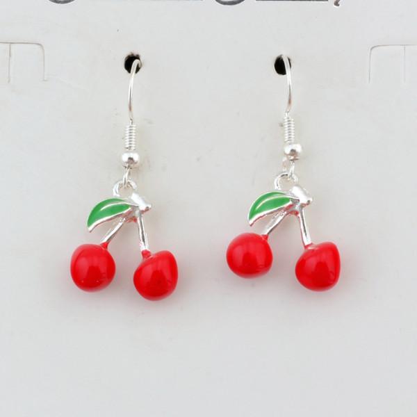 Orecchini in argento con smalto rosso ciliegia e frutta Orecchini a gancio in argento 20 paia / lotto Gioielli in argento antico con lampadario