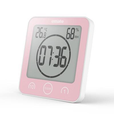 Ванная Цифровые настенные часы Электронный термометр и гигрометр Таймер отключения звука Водонепроницаемая Ванная Кухня Часы Таблица EEA655