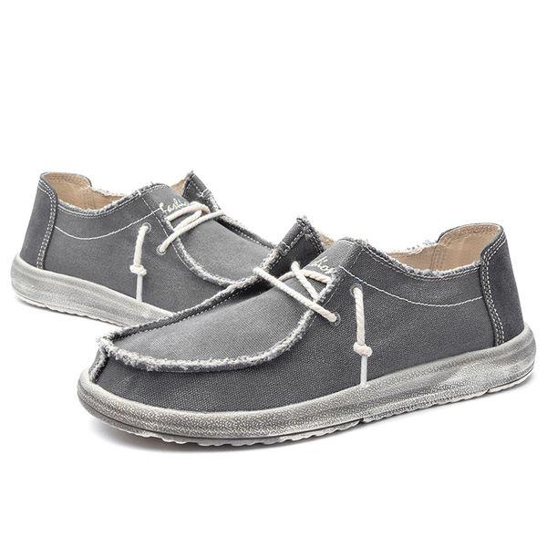 Venda quente-2019 Novos Sapatos Masculinos Sapatos de Lona dos homens de Moda Explosões Lavados Pano Sapatos Masculinos Casuais Sapatilhas de Verão