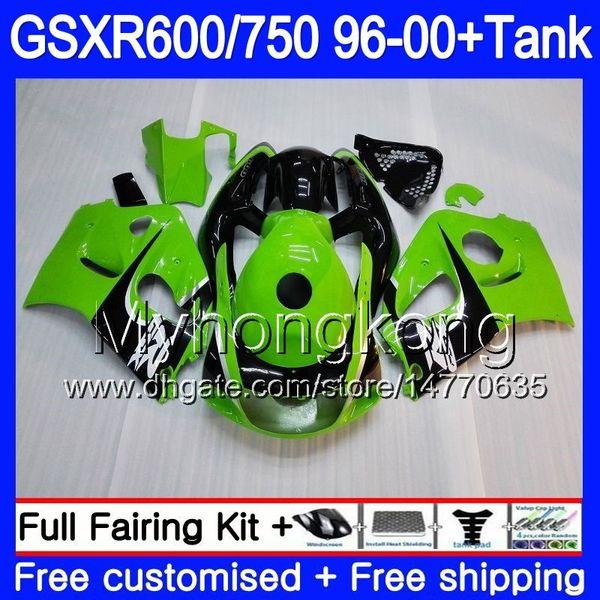 Bodys Stock green black+Tank For SUZUKI SRAD GSXR 750 600 1996 1997 1998 1999 2000 291HM.74 GSXR600 GSXR-750 GSXR750 96 97 98 99 00 Fairing