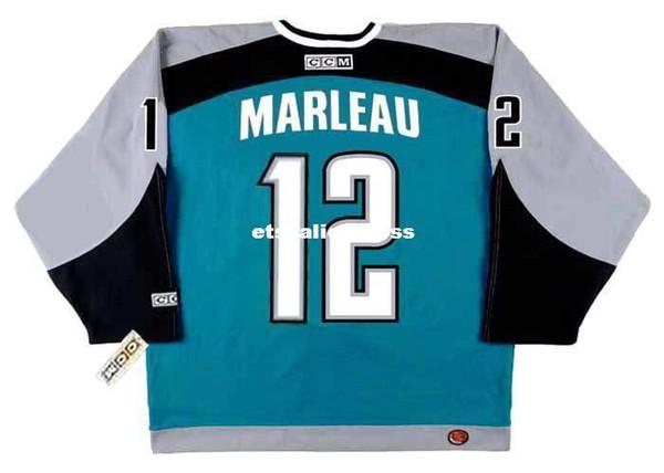 custom Mens PATRICK MARLEAU San Jose Sharks 2005 CCM Jerseys Home Cheap Retro Hockey Jersey