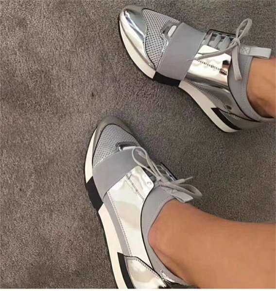 Leather toe/silver