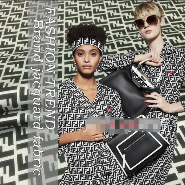 ZENGIA 50x145cm Frauen / Männer Brokat Jacquard Stoff für Kleid / Windjacke / Jacke Mode Jacquard Stoff für Patchwork Telas / Gewebe
