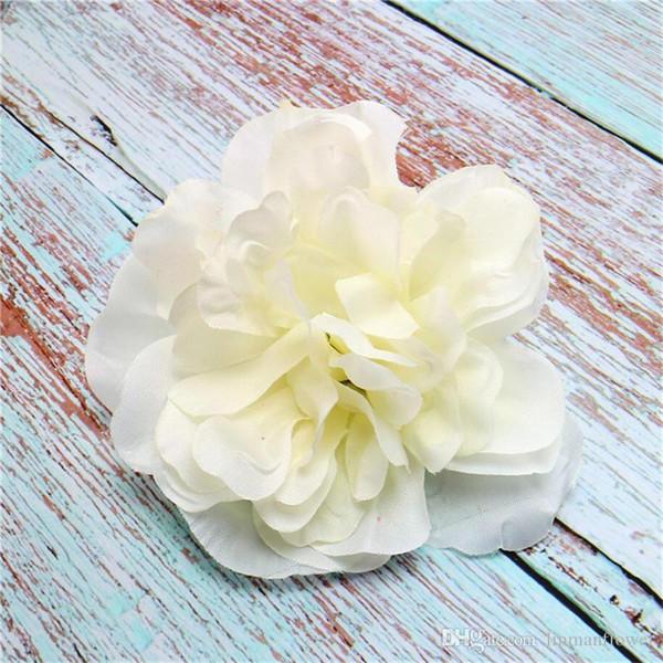 15 Colors Silk Flower Dahlia Rose Artificial Flower Head Wedding Decoration DIY Wreath Gift Box Scrapbooking Craft Fake Flower