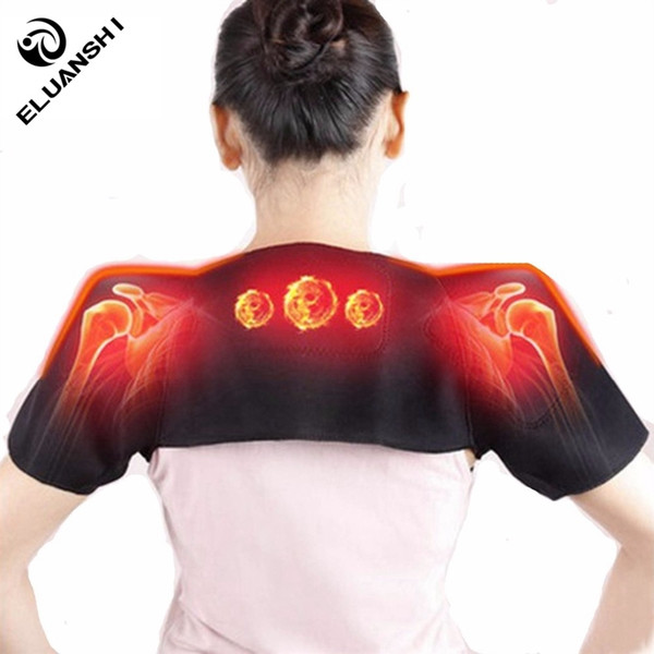 Self Heating Pain Relieve Magnetic Massager Therapy the posture corrector back support Belt Brace women tape Black basketball #207948
