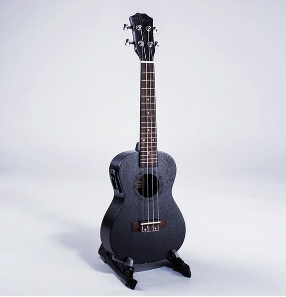 Caja eléctrica estándar de 23 pulgadas con núcleo de melocotón negro con ecualizador ukelele 4 cuerdas pequeña guitarra envío gratis