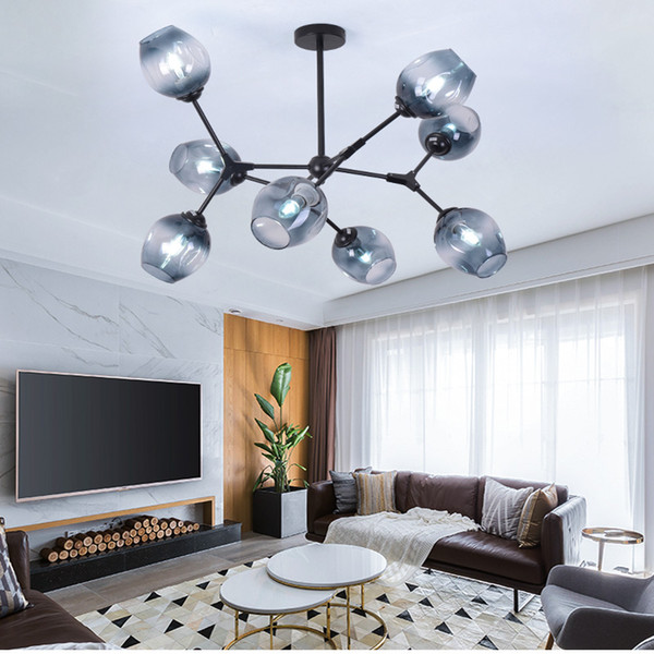 Molecular Chandelier Nordic Simple Modern Living Room Lamp Dining Room  Bedroom Creative Personality Led Lamps Glass Chandelier UK 2019 From ...