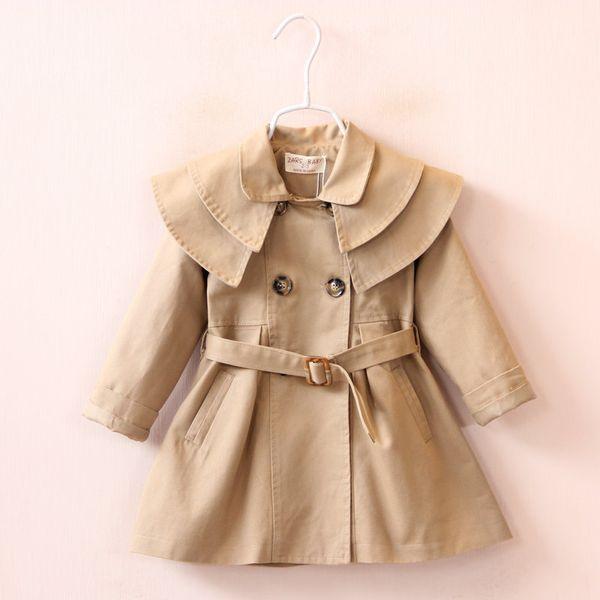 2019 Spring Autumn baby Girl trench Jacket Solid Children kids Windbreaker Coat Fashion Baby Girl long coat clothing