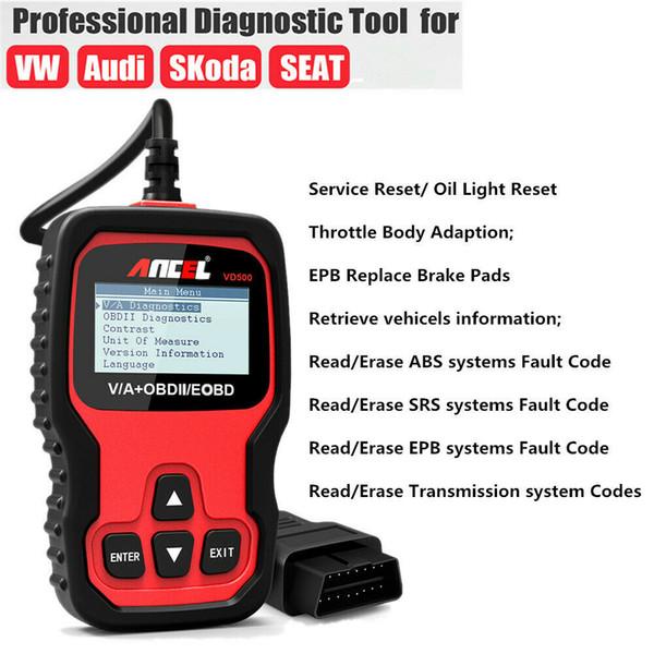 Lecteur de code de vérification d'ESP SAS de boîte de vitesse d'ESP2 d'huile de scanner VD500 EPB de scanner de la voiture OBD2 EPB