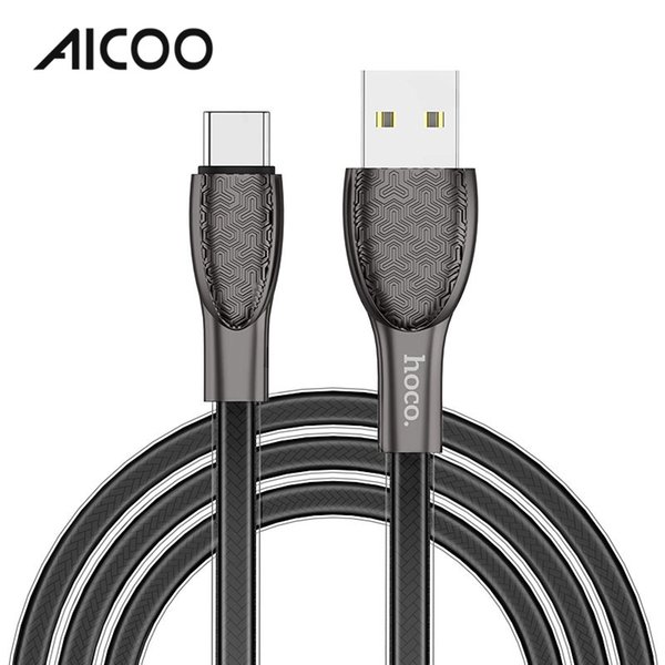 AICOO U52 Charging Data Cable HOCO Universal Jelly Woven Embossed Texture Personality Business Cable for Micro-usb Type-C Retail Package