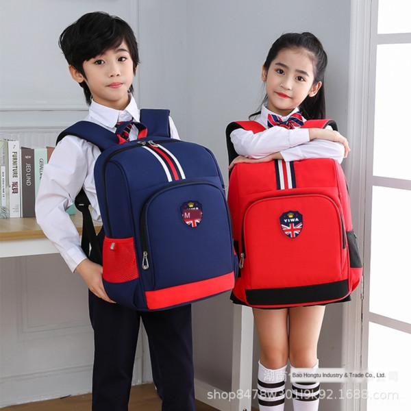 top popular One-click schoolbag for primary school students male and female students in grade 1-6 burden relief Ridge children's schoolbag printing 2021