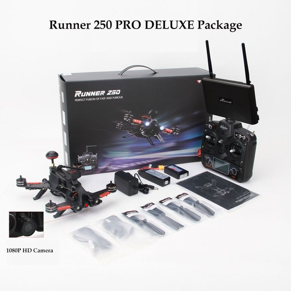 Walkera Runner 250 PRO New GPS Racing Drone DELUXE Package with 5.8Ghz Monitor