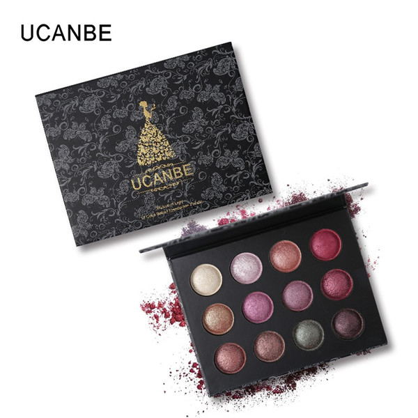 UCANBE Marke Pro Hohe Qualität 12 Farben Gebacken Metallic Lidschatten Makeup Palette Glitter Rauchigen Nackten Lidschatten Pulver Kosmetik