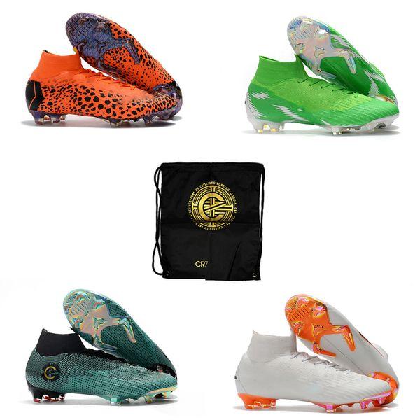 Chaude Mercurial Superfly VI 360 Elite FG KJ 6 XII 12 CR7 Ronaldo Neymar Hommes Femmes Haut Soccer Chaussures Crampons Taille NOUS 3-11