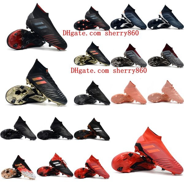 2019 scarpe da calcio uomo Predator 19.1 FG 18.1 scarpe da calcio alte tacchetti Predator 19 FG 18 scarpe da calcio tango acceleratore Tacos de futbol