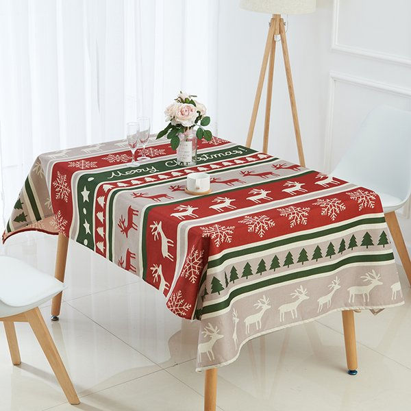 Christmas Tablecloths.Tablecloth For Table Christmas Tablecloth Elk Snowman Tree Table Cloth Decoracao Para Casa Cover Nappe De Mariage Restaurant Table Linens Card Table