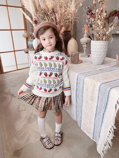 bambini ragazze maglioni lavorati a maglia gilet per bambini maglione per bambina pullover in lana maglione caldo abiti natalizi gilet per ragazze