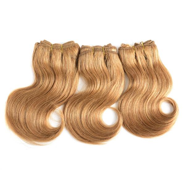 Pelucas de cabello humano real Cortinas de cabello europeas y americanas con bloque de pelo Body Wave Bundles y cierre de siete piezas