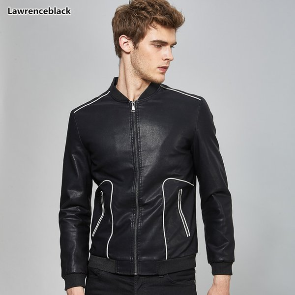 men's winter leather jackets and coats biker coat for men 2018 high quality man fashion motorcycle Jacket veste cuir homme 1590