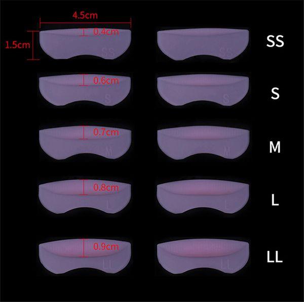 Tamax EB007 5 Pairs Silikon Conta Kirpik Kalıcı Bigudi Curling Kök Kaldırma Pembe Yanlış Kirpik Kalkanı Pad Güzellik Araçları