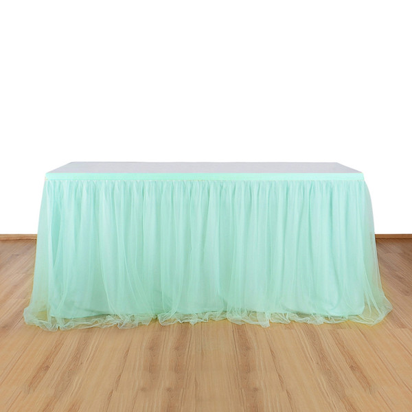 Tutu Tulle Table Skirt Tablecloth for Party Wedding Home Decoration