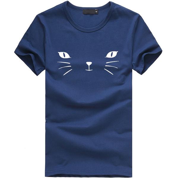 Plus La Taille 3xl D'été 2019 T-shirt Femmes Bleu Animal Imprimé À Manches Courtes Chemise Femmes Streetwear Tshirt Femmes O Cou Femme Vêtements