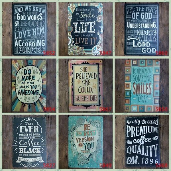 Poésie anglaise Vintage Assiette Classique Vintage Boîtes Affiches Famille Amour 20 * 30 cm Fer Peintures Tôle Signe Pour Chambre BookShop Décoration