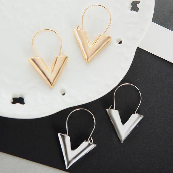 Designer Luxus Ohrringe Ohrringe für Frauen Mädchen Buchstabe V Form Stud böhmischen Ohrringe Ohrring Schmuck Frauen baumeln Ohrring Zubehör
