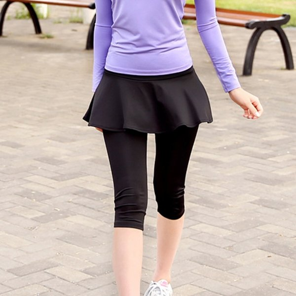 Women's Sport Fitness Skirt Running Yoga Jogging Ankle-Length Pants/Calf-Length Pants Quick-drying Workout Gym Sportswear 72 #379073